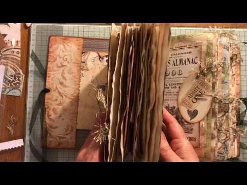 Memories vintage journal hard cover chunky Monkey ! - YouTube