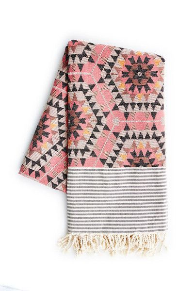Holly's House Rose aztec blanket