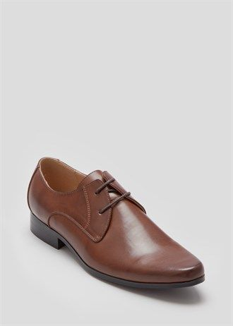 Spice up your suit boys! With a pair of Brown Pointed PU Shoe   For your sophisticated night out   Matalan