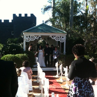 Where would you find a more romantic wedding venue   This shot was taken last weekend at The Castle on Tamborine when two very important guests tied the knot  Www.thecastleontamborine.com.au