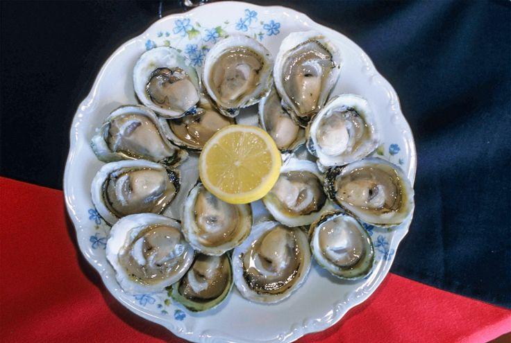 Caulin (Chiloe' Island), Chile. A dish of local oysters in the La Colorina de Caulin restaurant. © Roberto Soncin Gerometta 2003