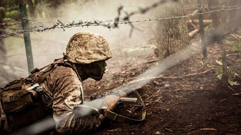 You voted and this week's Top Shot comes from Lance Cpl. Cristian L. Ricardo.  He captured a Marine Corps officer candidate participating in a fire team assault course at the Officer Candidate School, Marine Corps Base Quantico, Virginia.