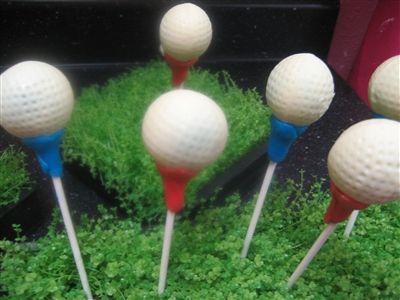 Golfball Cake Pops by Sweetly Scrumptious | Wichita, KS Bakery