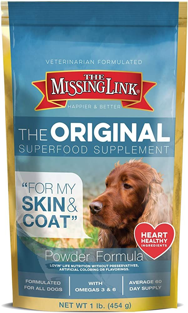 The Missing Link Supplements With Balanced Omegas And Heart Healthy Fresh Ground Flaxseed In Unique Formulas H In 2020 Superfood Supplements Dog Supplements Superfood