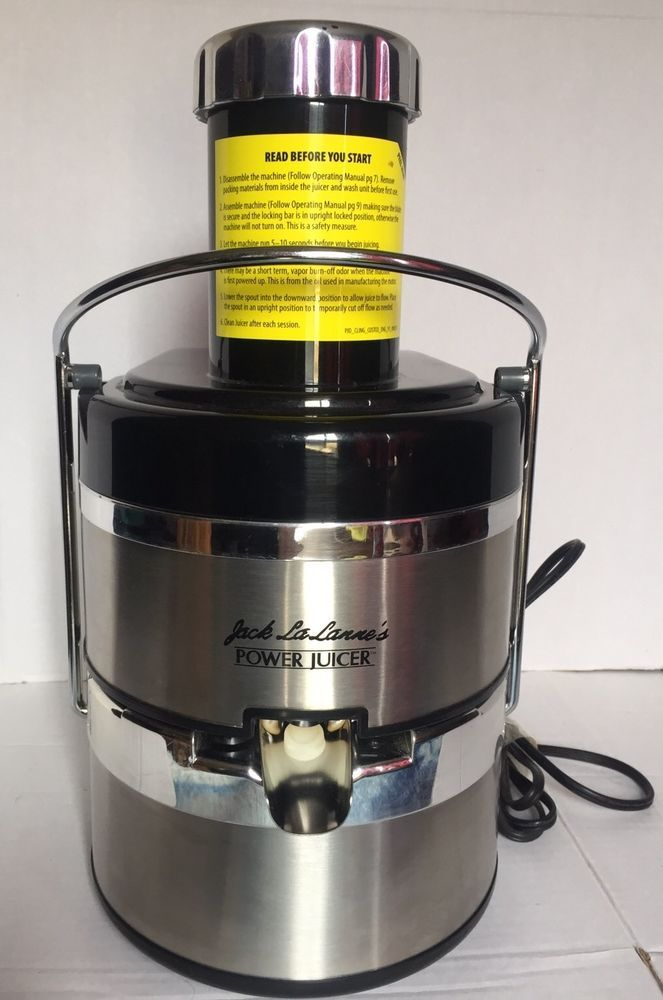 Power Juicer Jack Lalanne model MT1000 stainless steel with chrome plastic 2.5A #JackLaLanne