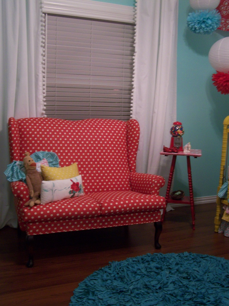 Fabric for my chair: Polka Dots, Dot Red White, Dream House, Dots Yj, Red Polka, Red White Dots