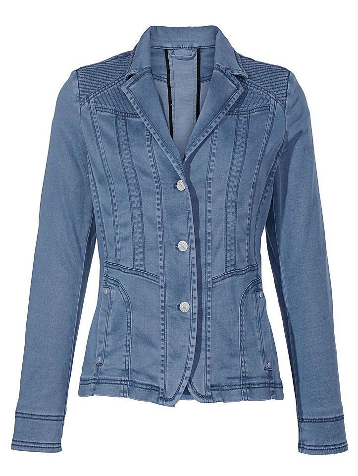 Mona Blazer in Jeans-Optik Jetzt bestellen unter: https://mode.ladendirekt.de/damen/bekleidung/blazer/sonstige-blazer/?uid=50ad2a58-60b9-5c46-9899-350fe35198ad&utm_source=pinterest&utm_medium=pin&utm_campaign=boards #sonstigeblazer #blazer #bekleidung
