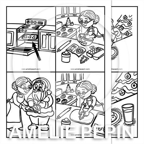 Fichier PDF téléchargeable 5 histoires séquentielles En noir et blanc Taille: 8,5 X 11 po. 5 pages  Chaque histoire contient 4 illustrations à replacer dans l'ordre. Les enfants peuvent les découper ou écrire le numéro directement sur l'image.