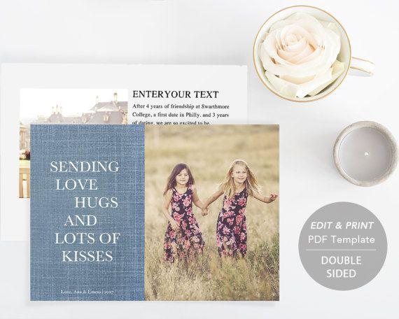 Printable Love Card  Valentine Card Template by SmittenPaperProps
