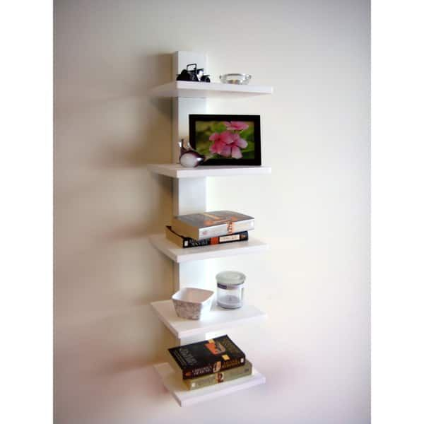 Spine Wall White Book Shelves Wall Shelf Decor