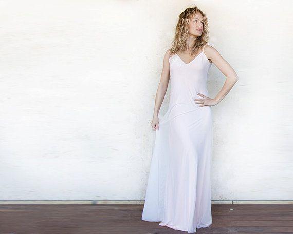 Light pink dress open back maxi dress prom dress by Michalfilmar, ₪550.00