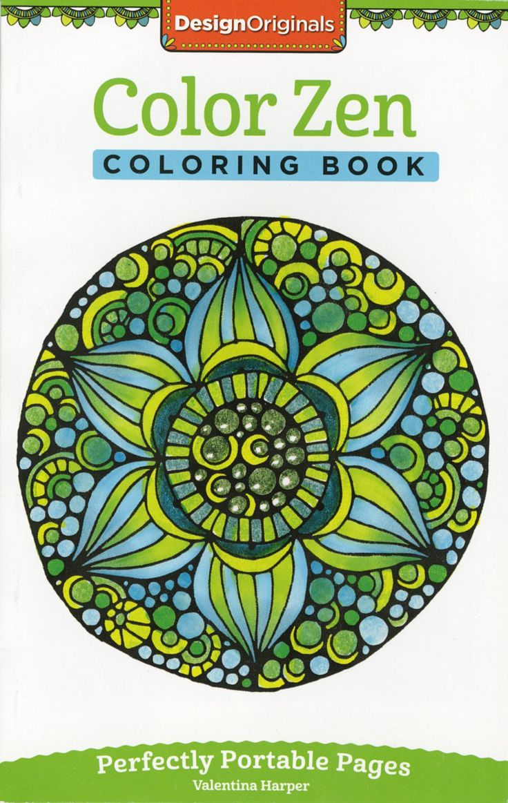 Zen coloring books for adults app - Design Originals Color Zen Perfectly Portable Adult Coloring And Activity Book By Valentina Harper