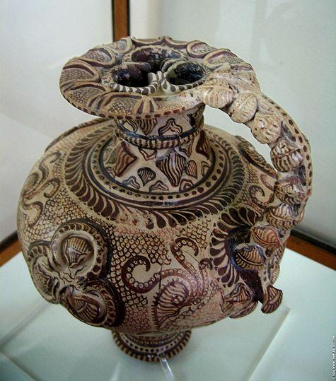 Minoan Art Pottery   Minoan Marine Style Pitcher   Heraklion Archaeological Museum, Crete
