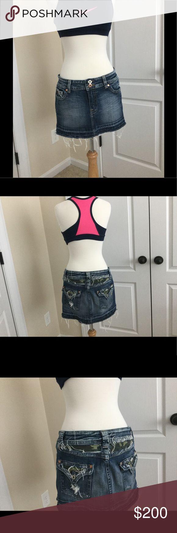 Miss Me camouflage Jean skirt. Sexy❤️ Miss Me Skirts Mini