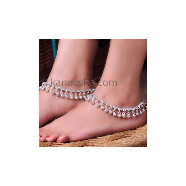 Indian Bell Anklets ($42) ❤ liked on Polyvore featuring jewelry, silver anklet, polish jewelry, anklet jewelry, silver jewelry and polish silver jewelry
