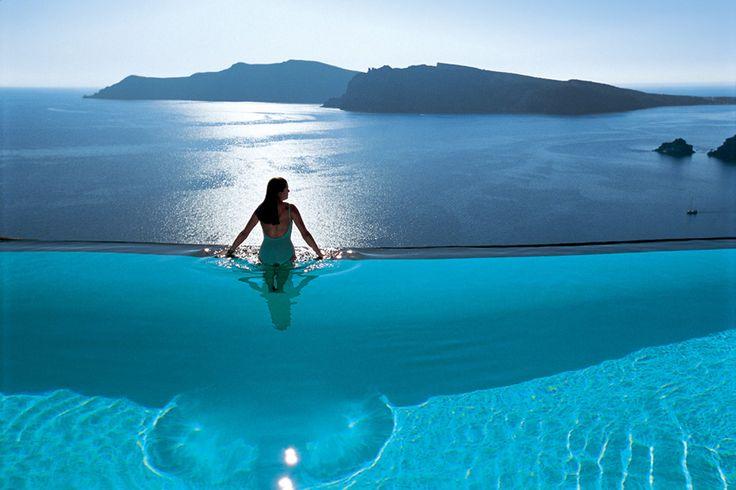 Perivolas, Santorini, Greece #PoolsWeLove