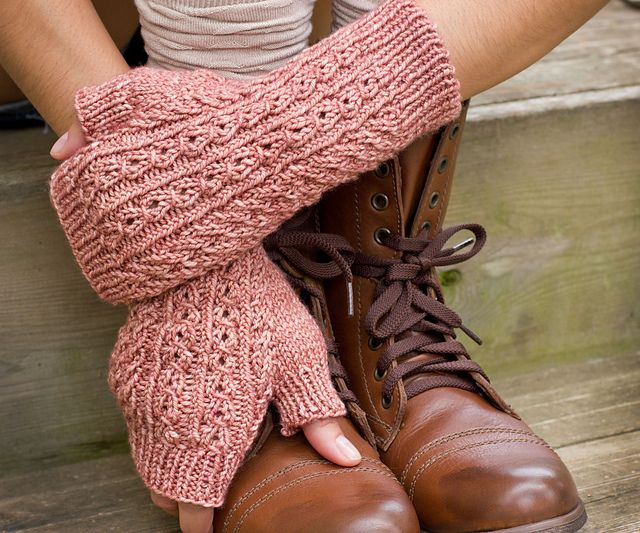 Ravelry: Coy pattern by Melissa Schaschwary. I'm pretty sure there's a matching hat.