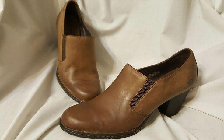 Born women's shoes sz 11 US 43 EUR Gertrude brown leather shooties heels slip on | Clothing, Shoes & Accessories, Women's Shoes, Heels | eBay!