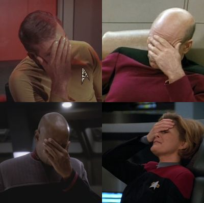 Epic captain facepalm quadrilogy