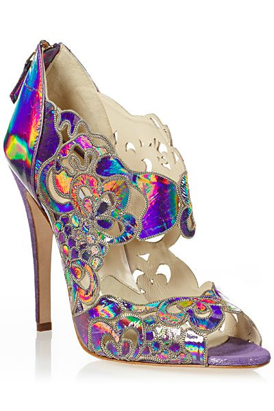 Holy Hologram! Designer High Heels Sandals Shoes Fashion Trends Couture  Brian Atwood Shoes