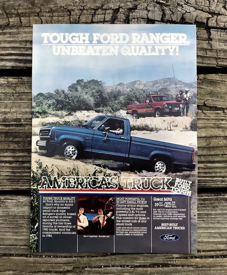 FORD RANGER Truck Built Ford Tough Vintage 1984 Print Ad Magazine Advertisement  | eBay