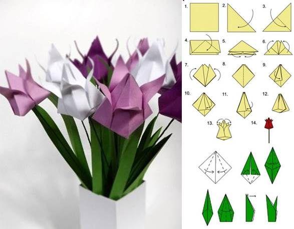 How to DIY Origami Tulip   iCreativeIdeas.com Like Us on Facebook ==> https://www.facebook.com/icreativeideas