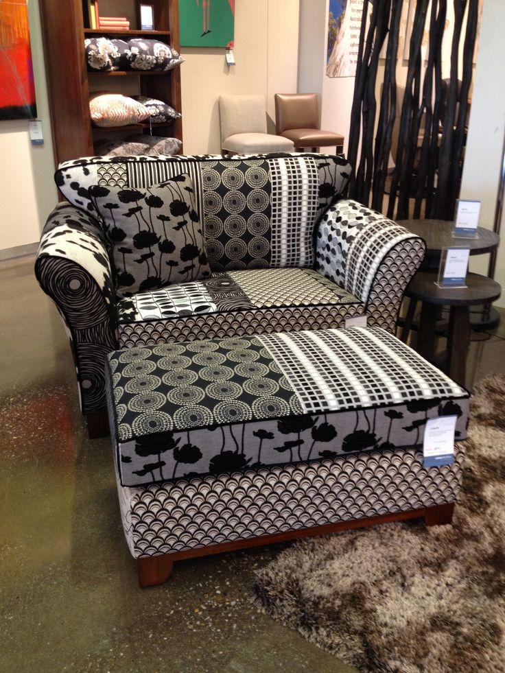 WOW!! Fantastic patchwork chair in Warwick Fabrics.