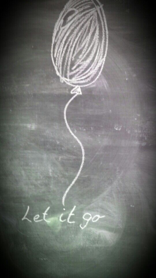 I drew this on my blackboard at home to remind me not to worry about housework!