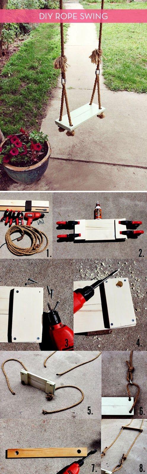 COMO CONSTRUIR UN COLUMPIO. ROPE SWING. DIY