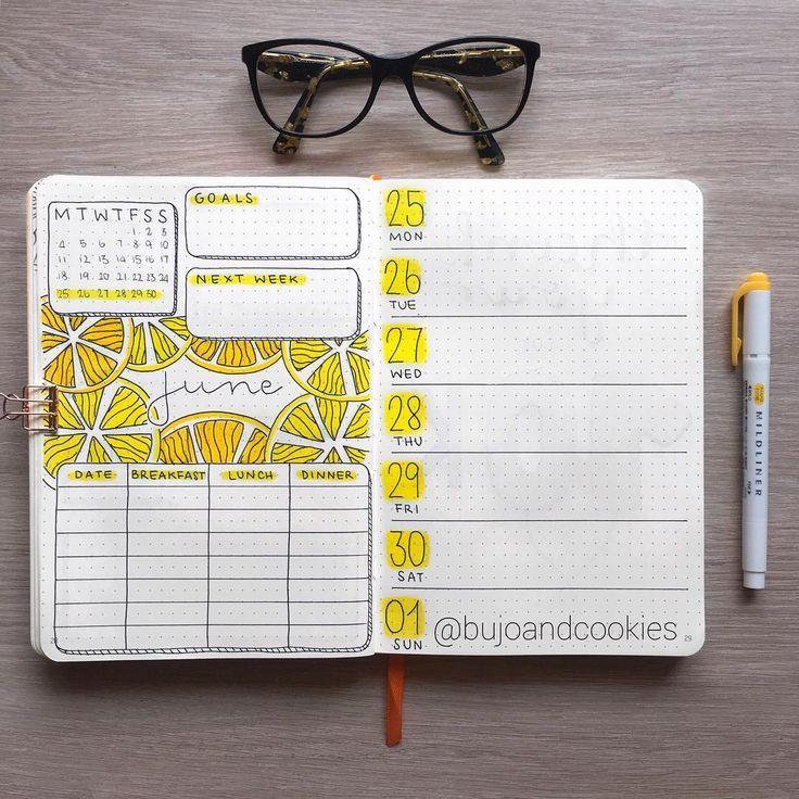 40 juicy Citrus Bullet Journal Theme Ideas