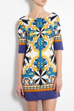 Tile Print Tunic Dress by Philosophy di Alberta Ferretti