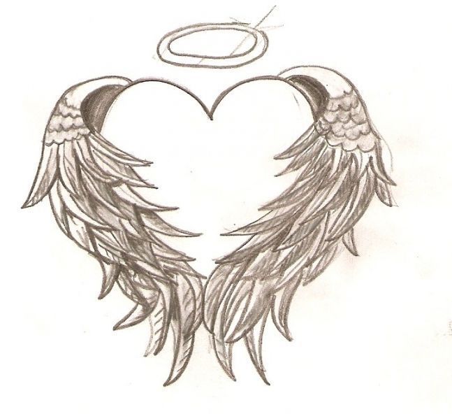 Tattoos Photos Designs » Heart Angel Wing Topic Would have to add ...