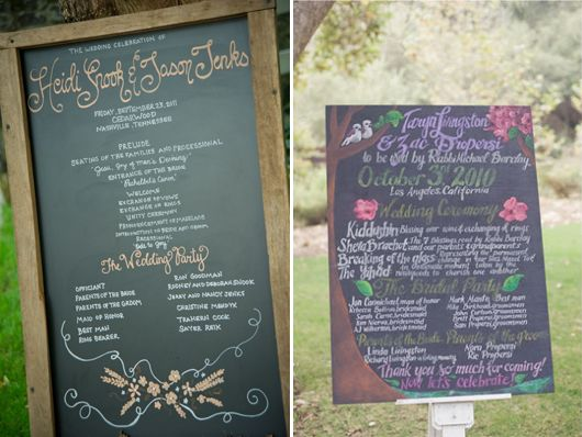 8 Ways to Use Chalkboards at Your Wedding & How to Make Your Own Chalkboard Paint | The Plunge Project