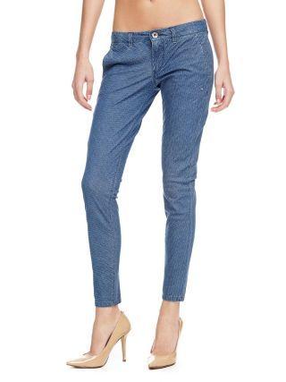 Jeans Guess dama skinny cu tur lasat