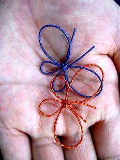 Japanese Mizuhiki cord art 叶結び二つ