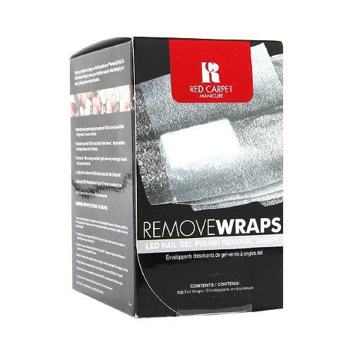 Τα ειδικά σχεδιασμένα wraps από φύλλο αλουμινίου της Red Carpet Manicure είναι ιδανικά για την εύκολη, γρήγορη και ασφαλή αφαιρεση του ημιμόνιμου βερνικού σας, εφαρμόζοντας με ακρίβεια το Erase Gel Nail Polish Remover πάνω στην επιφάνεια των νυχιών σας. Η συσκευασία περιέχει 100τμχ.    Τιμή 9,90€