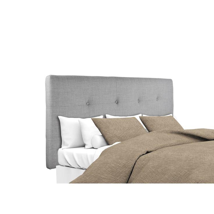 MJL Furniture Ali Button Tufted Dark Grey Upholstered Headboard (California King)