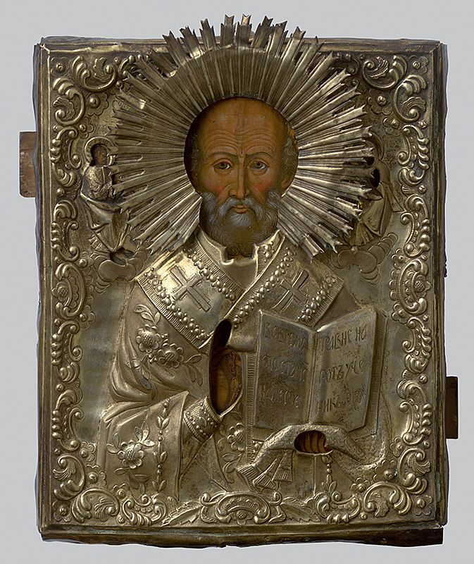 St. Nicholas, Russian Iconography, 1775/1800. Slovak National Gallery, CC BY