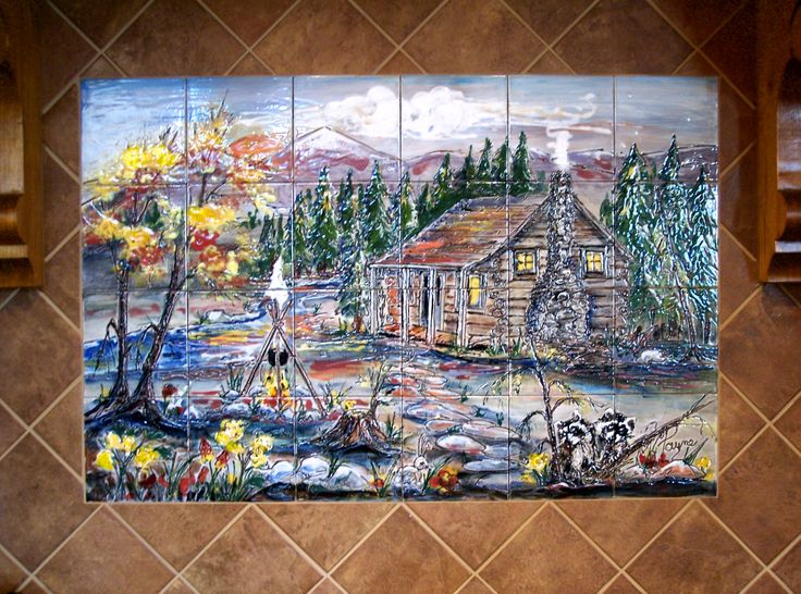 17 best images about hand painted tile murals on pinterest for Clay tile mural