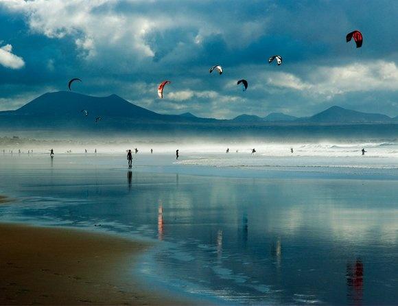 Famara Beach! - im Norden, Wind&Wellen&Surfer