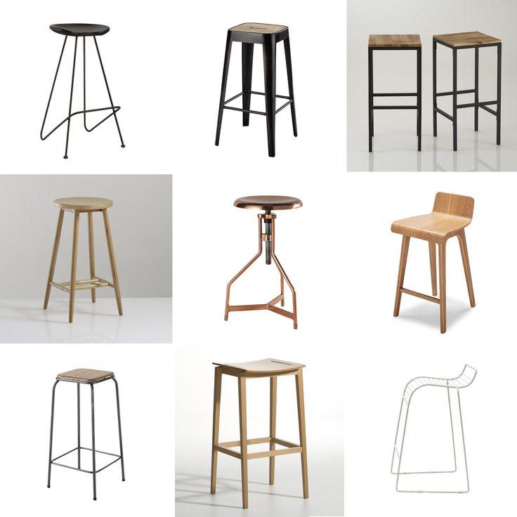 Looking for des tabourets de bar - inspiration for bar stools - scandinavian industrial design - www.pierrepapierciseaux.be