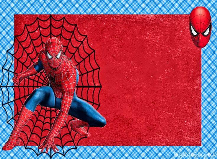 Unusual image with printable spiderman invitations
