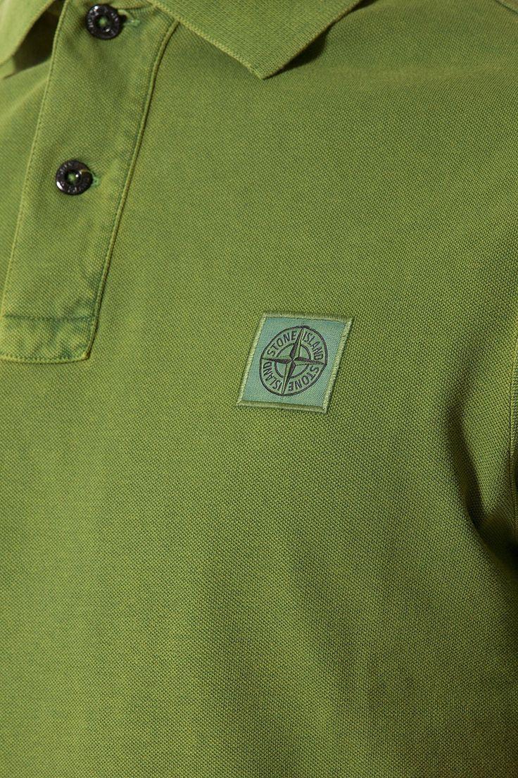 STONE ISLAND Dark green polo shirt for men spring summer 2014
