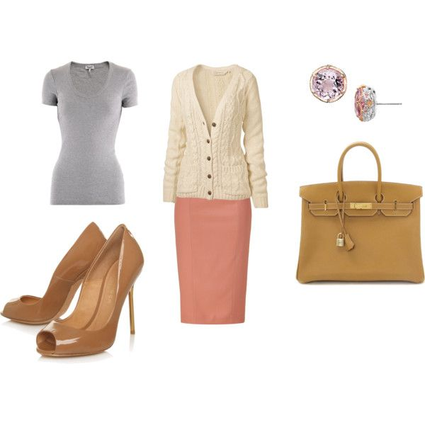 Pink Leather Skirt, created by sarah-ceci-jones on Polyvore