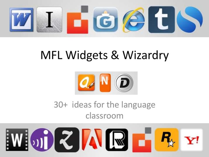 Widgets&wizardry for MFL by jonmeier via slideshare