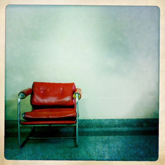 Instagram red chair square photo 4x4 8x8 by angiemccullagh on Etsy, $16.00 #retrophoto