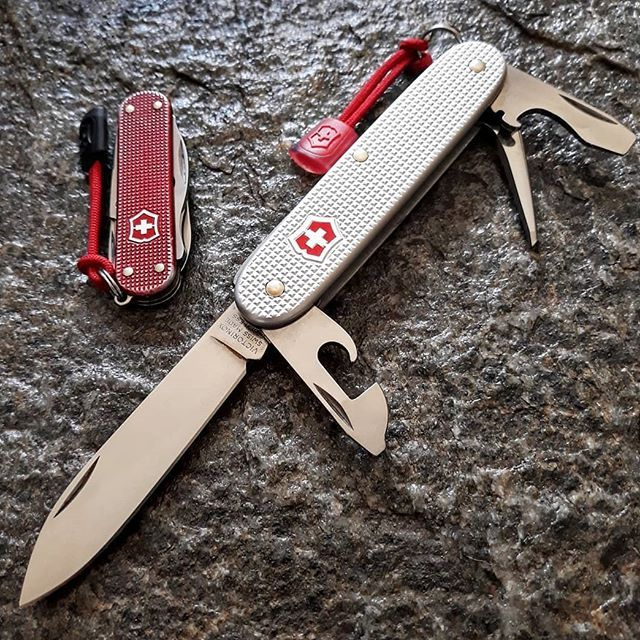 Victorinox Alox In Silver Pioneer 93mm With Red Vic Lanyard Alox In Red Rambler 58mm With Red Vic Lanyard S Victorinox Swiss Army Knife Victorinox Swiss Army