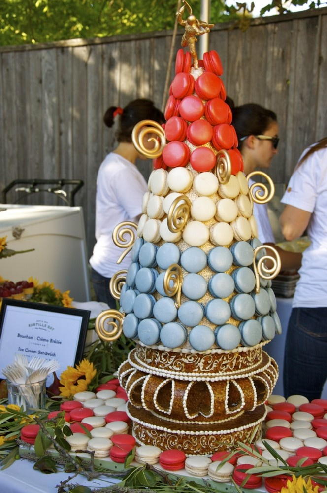 macaroon tree for Bastille Day