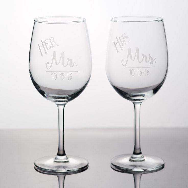19 best wedding couple gifts images on pinterest couple gifts engagement gift bridal couple gift his mrs and her mr 13 oz wine glasses engagement gift wedding couple gift wedding wine glass set negle Gallery