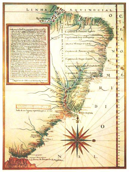 Mapa das Capitanias Hereditarias